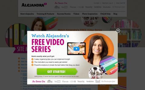 Screenshot of Site Map Page alejandra.tv - Site Map » Alejandra.tv - Home Organizing/Time Management Training - captured Feb. 5, 2016