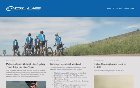 Screenshot of Press Page rideblue.com - Blue Competition Cycles-NEWS - captured July 30, 2017