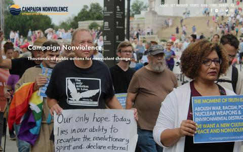 Screenshot of About Page paceebene.org - Campaign Nonviolence — Pace e Bene Nonviolence Service - captured Nov. 25, 2018