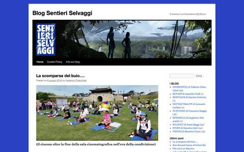Screenshot of Blog sentieriselvaggi.it - Blog Sentieri Selvaggi   il cinema è un'invenzione del futuro - captured Aug. 24, 2016