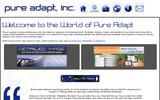 Old Screenshot Pure Adapt, Inc Home Page