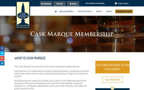Screenshot of Signup Page cask-marque.co.uk - Join - Cask Marque - captured Nov. 4, 2018