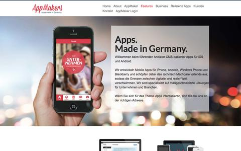 Screenshot of Home Page app-makers.de - AppMakers - Apps Made in Germany - captured Sept. 30, 2014