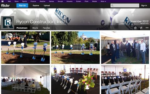 Screenshot of Flickr Page flickr.com - Flickr: Rycon Construction, Inc.'s Photostream - captured Oct. 26, 2014