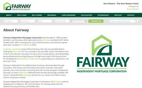About Fairway  |  Don Waters | Fairway Independent Mortgage Corporation