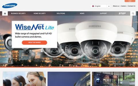 Screenshot of Home Page samsung-security.eu - Samsung Techwin Europe CCTV Solutions - captured Feb. 29, 2016