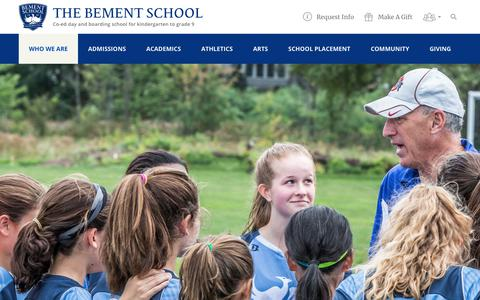 Screenshot of Contact Page bement.org - Contact Us - The Bement School - captured Oct. 19, 2018