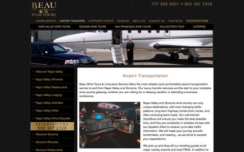Airport Transportation Limo Service to and from Napa Valley and Sonoma