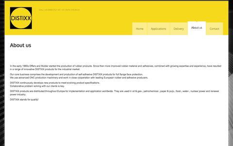 Screenshot of About Page distixx.com - Distixx About us » Distixx - captured Sept. 30, 2014