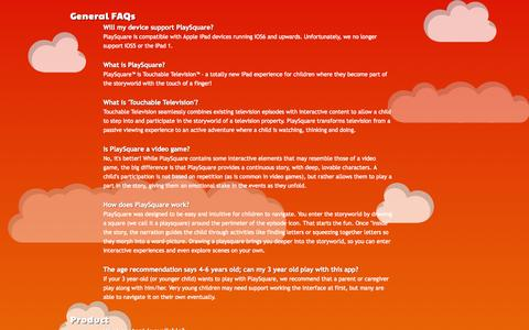 Screenshot of FAQ Page playsquare.tv - PlaySquare - captured Sept. 13, 2014