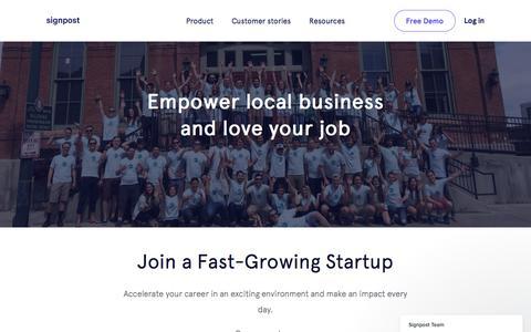Screenshot of Jobs Page signpost.com - Signpost Team says… - captured Jan. 14, 2018