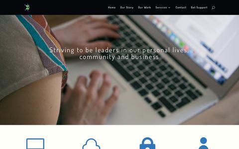 Screenshot of Home Page litzia.com - Professional IT Services | Litzia | Bellingham, WA - captured Aug. 23, 2017