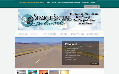 Screenshot of Home Page straightspouse.org - Straight Spouse Network | - captured Sept. 23, 2018