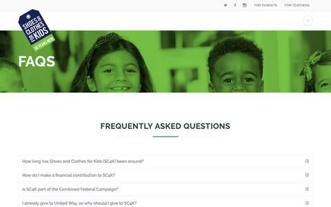 Screenshot of FAQ Page sc4k.org - FAQs   SC4K - captured Dec. 14, 2018