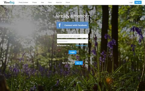 Screenshot of Login Page viewbug.com - Login - ViewBug.com - captured Sept. 18, 2014