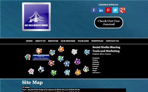 Screenshot of Site Map Page bayareawebsiteworks.com - Site Map - Maryland Web Design & Development & SEO by Bay Area Website Works - captured Sept. 30, 2014