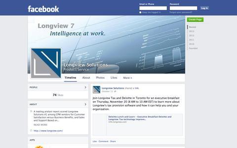 Screenshot of Facebook Page facebook.com - Longview Solutions | Facebook - captured Oct. 22, 2014