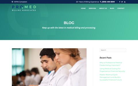 Screenshot of Blog promedba.com - Blog - Promed Billing Associates - captured Sept. 30, 2018