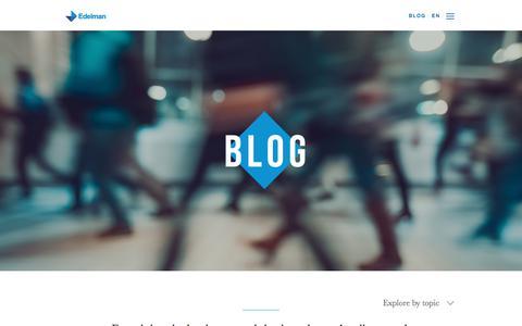 Screenshot of Blog edelman.ca - Edelman Canada - captured Sept. 25, 2018