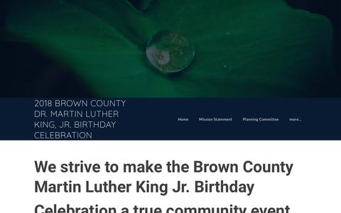 Screenshot of Contact Page browncomlk.org - Contact Us - 2018 BROWN COUNTY DR. MARTIN LUTHER KING, JR. BIRTHDAY CELEBRATION - captured April 21, 2018