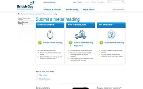 Submit a Meter Read - British Gas