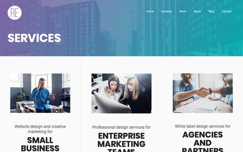 Screenshot of Services Page riavonenterprises.com - Web design and marketing services for business and enterprises marketing teams. - captured Oct. 18, 2018