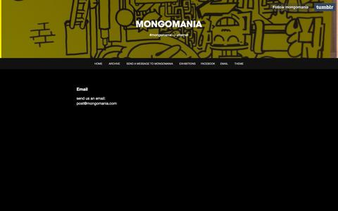 Screenshot of Contact Page tumblr.com - Email - MONGOMANIA - captured Oct. 24, 2018