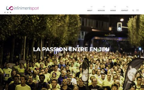 Screenshot of Home Page infinimentsport.fr - Infiniment Sport, Agence Événementiel, Marketing et Coaching sportif - captured Sept. 13, 2018