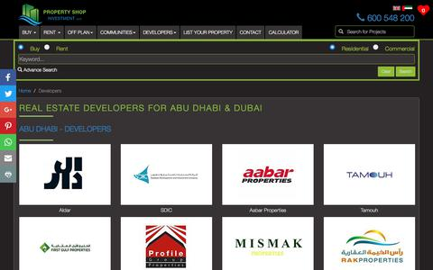 Screenshot of Developers Page psinv.net - Real Estate Developers for Properties in Dubai and Abu Dhabi - captured Sept. 26, 2018