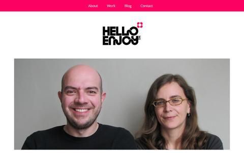 Screenshot of About Page helloenjoy.com - Hello! | HelloEnjoy™ - captured Oct. 27, 2014