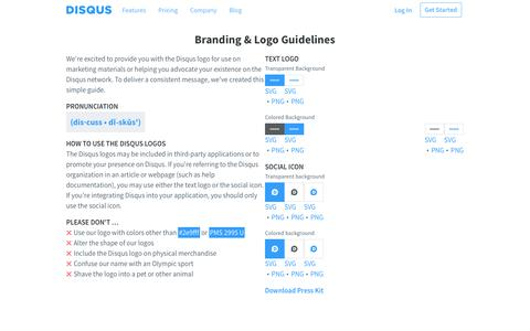 Disqus Brand and Logos