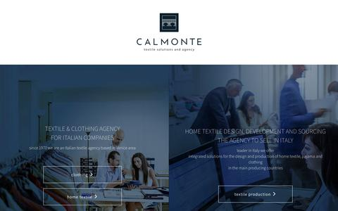 Screenshot of Home Page calmonte.it - Calmonte Fashion Textile Agency - Calmonte - captured July 12, 2017