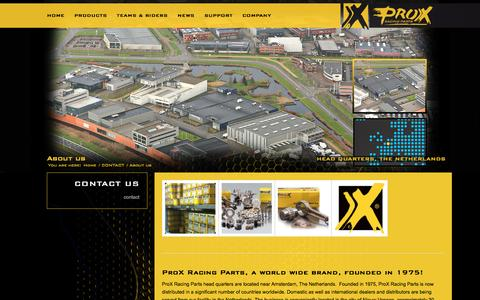 Screenshot of About Page pro-x.com - About us - ProX Racing Parts - captured Jan. 21, 2017