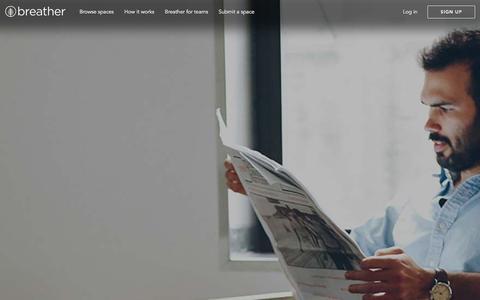 Screenshot of Press Page breather.com - Recent press | Breather - captured Dec. 12, 2015