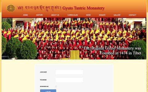 Screenshot of Login Page gyuto.org - Login - captured April 1, 2017