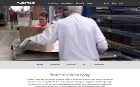 Screenshot of Jobs Page airstream.com - HR Careers Overview | Airstream - captured Oct. 31, 2017