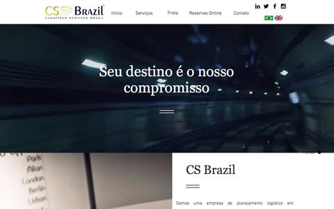Screenshot of Home Page csbrazil.com.br - Chauffeur Services Brazil | Mobilidade Corporativa Internacional - captured July 25, 2017