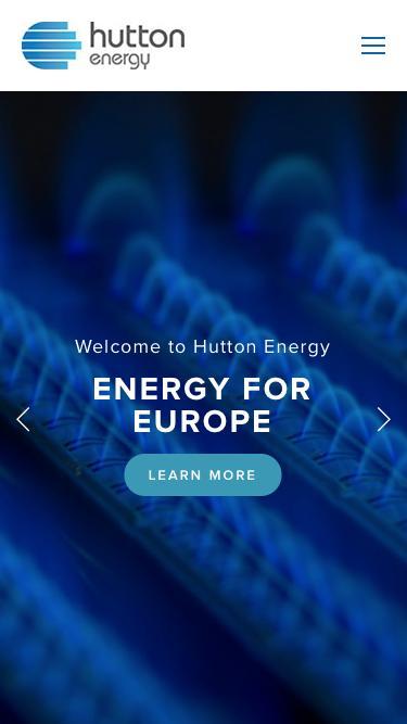 Screenshot of Home Page  huttonenergy.com - Hutton Energy