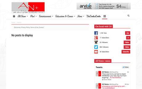 Screenshot of Menu Page allnewsplus.com - Imprint - All News+ - captured Nov. 4, 2014
