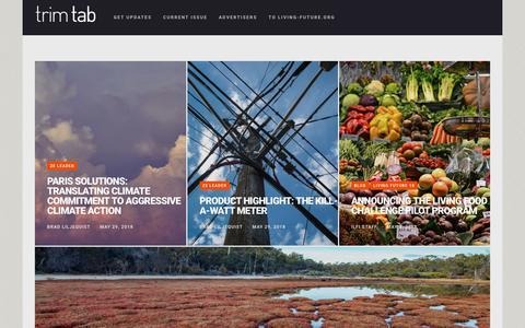 Screenshot of Blog living-future.org - Trim Tab - Trim Tab Online - captured June 13, 2018