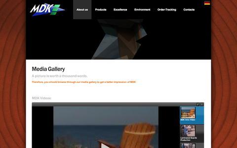 Screenshot of Press Page mdk-online.com - Media MDK - captured Oct. 4, 2014