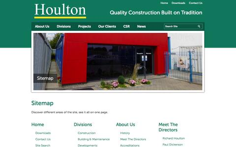 Screenshot of Site Map Page houlton.co.uk - Sitemap   Houlton - Quality Construction built on Tradition   Hull - captured Sept. 30, 2014