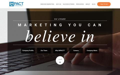 Screenshot of About Page impactbnd.com - About IMPACT   Inbound Marketing Agency - captured Dec. 4, 2015