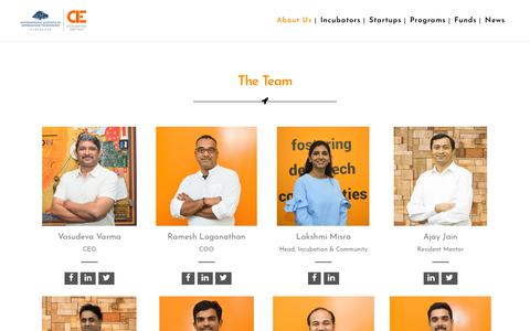 Screenshot of Team Page iiit.ac.in - The Team - CIE IIITH - captured Sept. 24, 2018