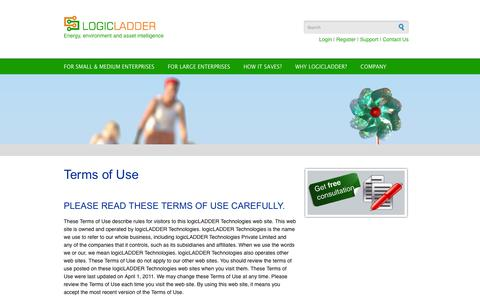 Screenshot of Terms Page logicladder.com - Terms of Use | LogicLadder - captured Sept. 16, 2014