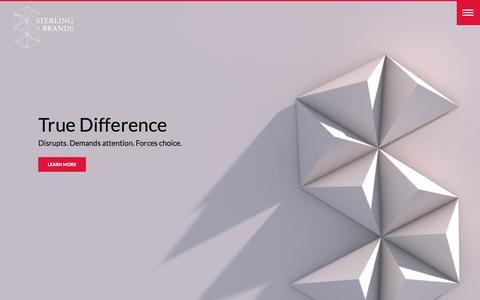Screenshot of Home Page sterlingbrands.com - Sterling Brands: Brand strategy, design and innovation. - captured Aug. 10, 2016