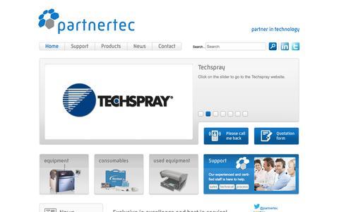 Screenshot of Home Page partnertec.nl - Partnertec - Partner in technology - captured Oct. 2, 2014
