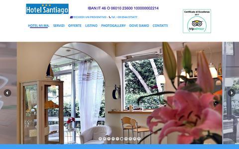 Screenshot of Home Page hotelsantiago.it - Hotel vicino al mare - Hotel 3 stelle Milano Marittima - Hotel Milano Marittima - captured Oct. 28, 2018