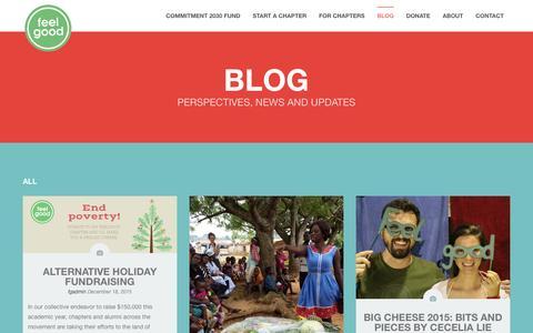 Screenshot of Blog feelgood.org - Blog - FeelGoodFeelGood - captured Feb. 9, 2016