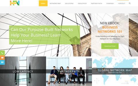 Screenshot of Home Page hudsonfiber.com - HFN Hudson Fiber Network Purpose Built Networks - captured Aug. 16, 2017
